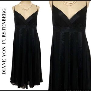 Diane Von Furstenberg Blk Silk Empire Waist Dress